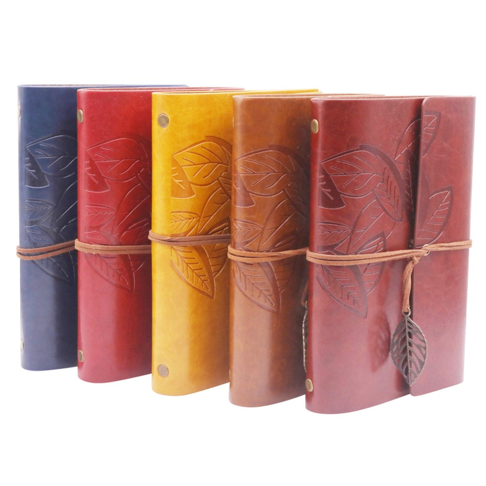 1 pcs Large Leaf Leaf Travel Notebook Bandage Handbook Book Aesthetics Paper Core Replace Student Home School Office Gift free shipping cy041 loft vintage style metal painting home pendant lights lamp