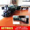 NEW LEPIN 21005 1085Pcs Technic Series Emerald Night Train Model Building Kits  Block Bricks Children Gigt Toys 10194