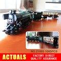 NUEVA LEPIN 21005 1085 Unids Serie Técnica Esmeralda Noche Tren Modelo Kits de Construcción Ladrillos Bloques Niños Gigt Juguetes 10194