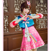 2017 New Arrivals Game OW D Va Cosplay Costumes Hanbok Style Cute Women Girls Clothes Korean