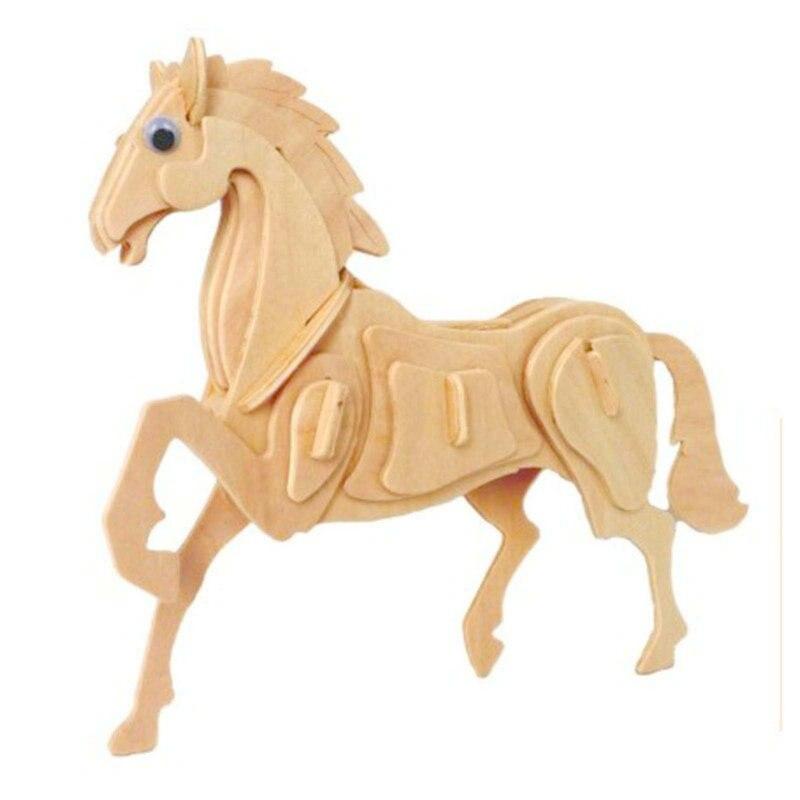 2016 Новинка образования 3D Скелет деревянные головоломки 12 китайского зодиака Форма модель игрушка в подарок