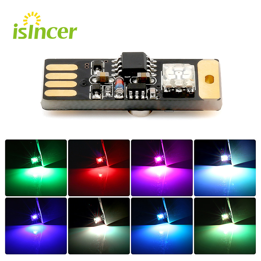 Home Interior Led Lights: Car USB RGB Atmosphere Lights Colorful Music Voice Control
