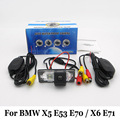 HD Wide Lens Angle Cameras For BMW X5 E53 E70 / X6 E71 / RCA Wire Or Wireless / Water Proof / CCD Night Vision Rear View Camera