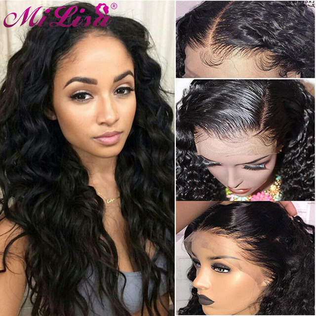 Water Wave Wig 360 Lace Frontal Wig Pre Plucked with Baby Hair Wigs For Black Women Mi Lisa Human Hair Malaysian Lace Front Wigs