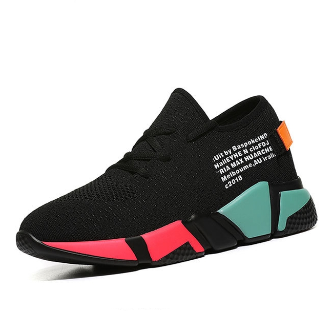 Hot Sale Women Casual Shoes Femme 2019 Spring Autumn Shoes Ladies Sneakers Fashion Lace Up Black Breathable Woman Flats B0028 in Women 39 s Vulcanize Shoes from Shoes