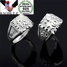 OMHXFC Wholesale European Fashion Man Male Party Birthday Wedding Gift Chinese FU Word Resizable 925 Sterling Silver Ring RI164(China)
