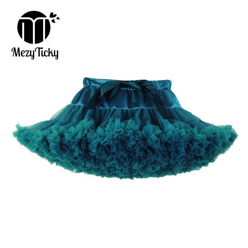 MezyTicky 2-8Y Bebés meninas Mini saias tutu de balé senhora crianças saia fofo elegante ruched saia princesa crianças dança Pettiskirt