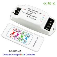 где купить RGB 3CH led Constant VoltageStrip Controller DC12V-24V Output RF remote Wireless For 5050 3528 RGB led strip light tape по лучшей цене