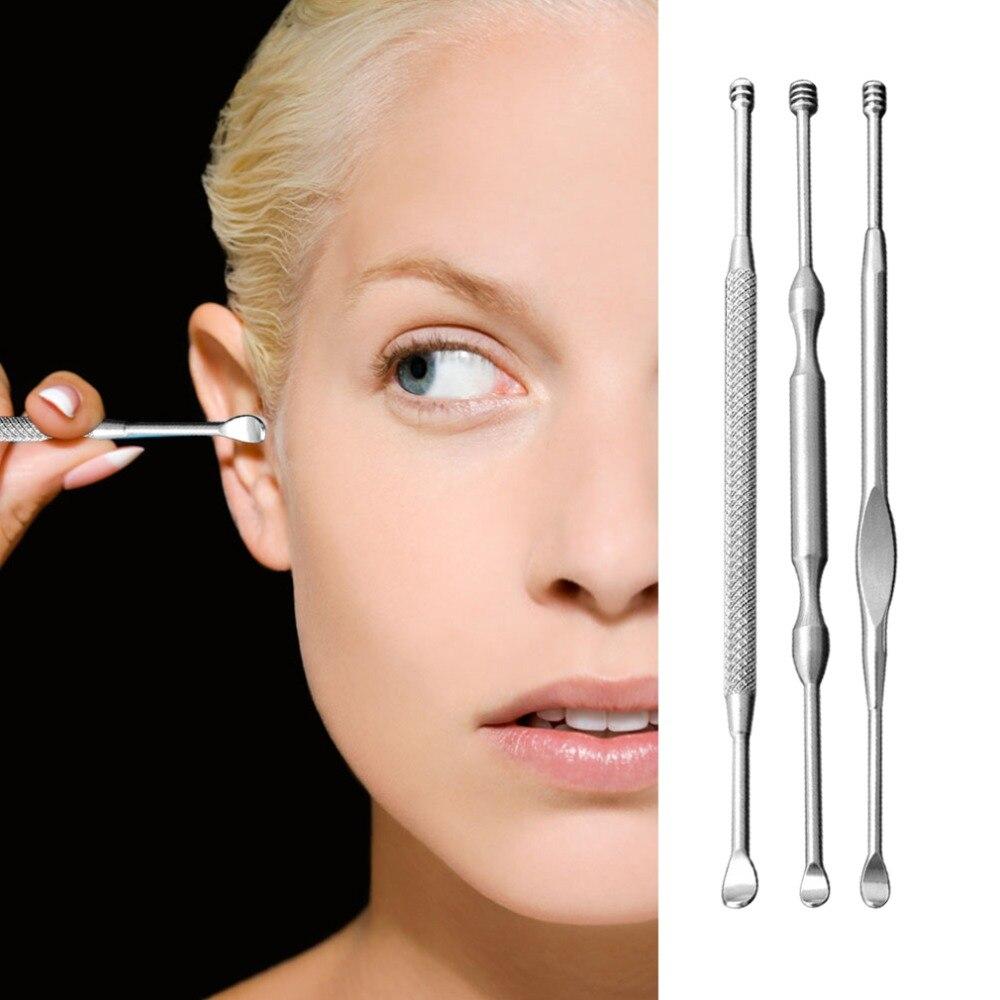 Инструменты для чистки ушей из нержавеющей стали, 1 шт., безопасный уход за ушами, устройство для чистки ушей, легкая ложка для ухода за ушами
