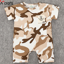 2017 cotton summer baby clothes camouflage baby romper dress fashion soft cotton conjoined clothes