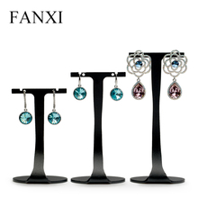 FANXI   3pcs/set Black Metal T Shape Jewelry Display Stand Fashion Drop Earrings Holder for Jewelry Organizer Showcase Box