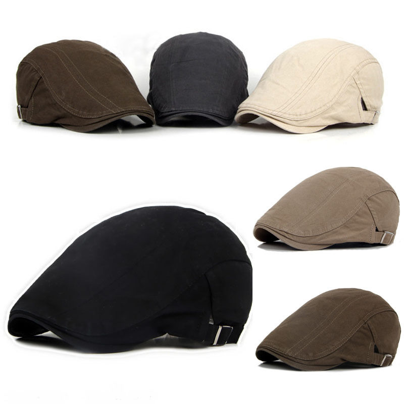 Hat Visors Berets-Cap Golf-Driving-Sun-Flat-Cap Peaked Cotton Men's Fashion New Casual