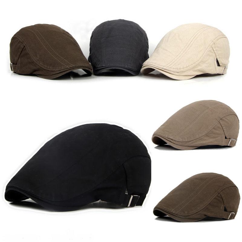 New Mens Hat Berets Cap Golf Driving Sun Flat Cap Fashion Cotton Beret