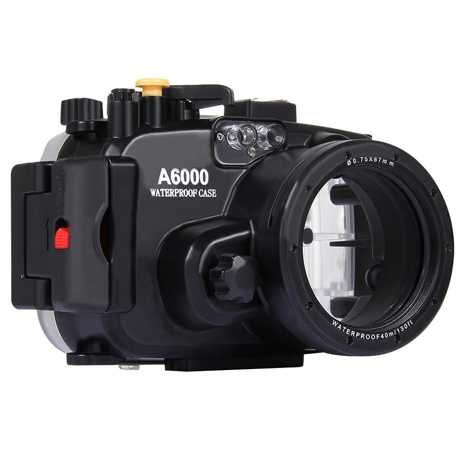 40 M 130ft caméra de plongée sous-marine étanche couverture antichoc, boîtier sac caméra pour SONY A6000 16-50 MM