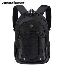 VICTORIATOURIST 15.6 pulgadas portátil mochila hombres viajes/negocio mochila impermeable mochila de nylon estilo euro v6060 negro