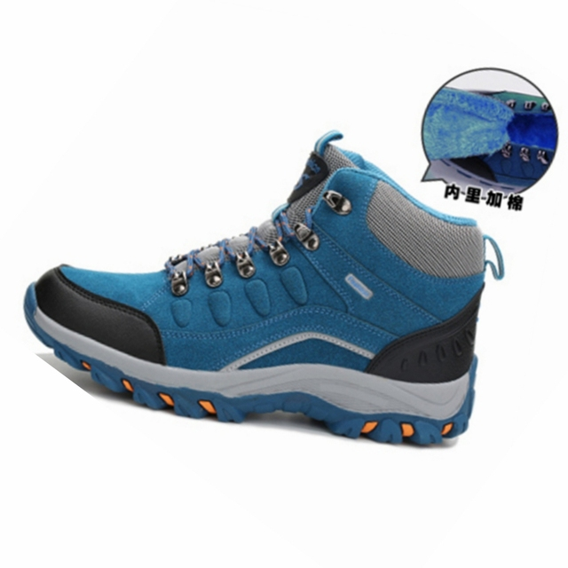 Snow Running Shoes >> Big Size High Top Women Training Running Shoes Winter Snow Boots