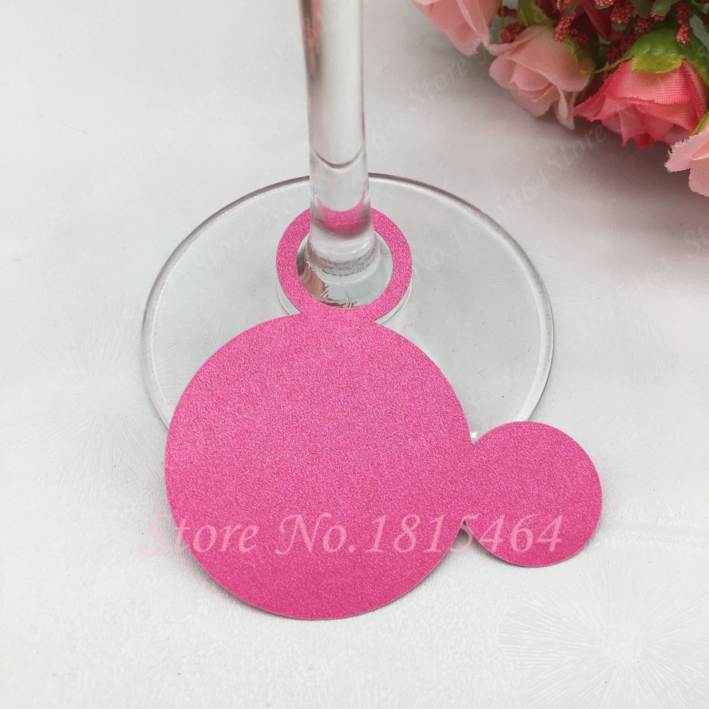 50pcs DIY drink wine glass ring markers cards charms bachelorette ...