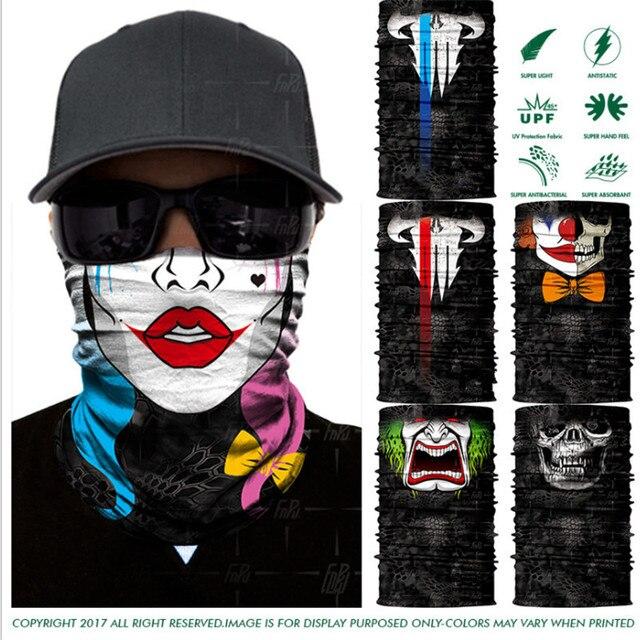 8a8f1e8bdda1 Nouveau Crâne Bouche 3D Impression Bandana Balaclava Extérieure Moto Cou  Chapeaux Biker Magie Foulard Tube Cou