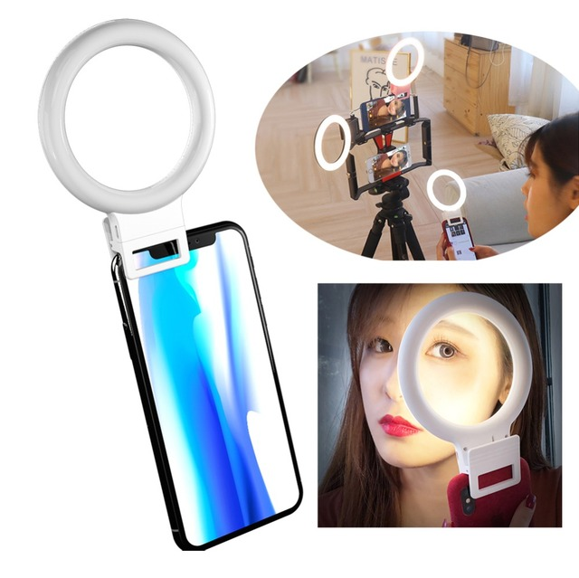USB Charge LED Selfie Ring Light for iphone Samsung Supplementary Lighting Night Darkness Selfie Enhancing for phone Fill Light
