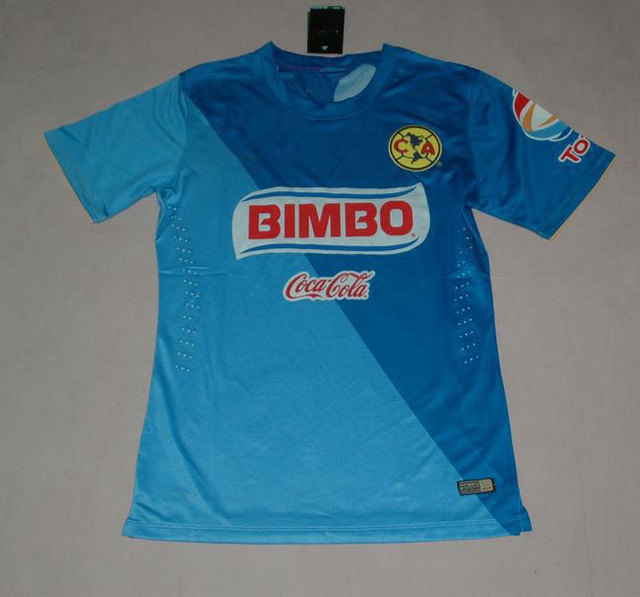 9acb6ffb30a 2014 Mexico Club America 3rd away jersey blue soccer jerseys Player Version  Top Men 3A+++O.MARTINEZ SAMBU camisa de futebol