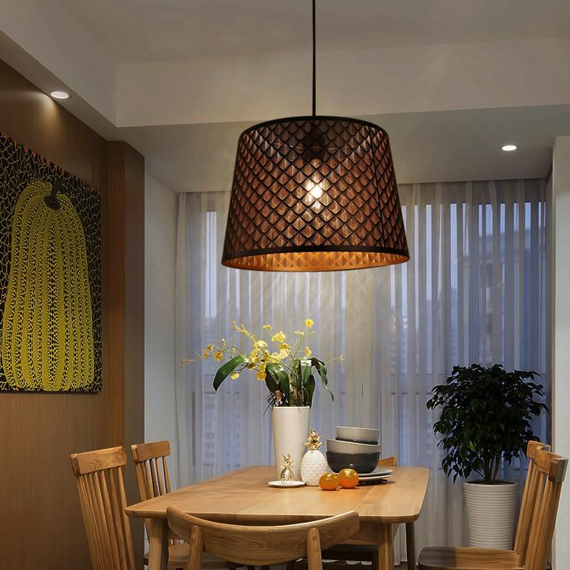 Black Minimalist Restaurant Pendant Light Nordic Style Iron Single Bar Table Lamp Dining Room Home Round Lighting Fixture