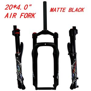 """Image 2 - MTB Cruiser Fork Moutain Bicycle 20 inch Fat Bike Air Fork Lockout Suspension Forks Aluminium Alloy For 20x4.0""""Tire 135mm"""
