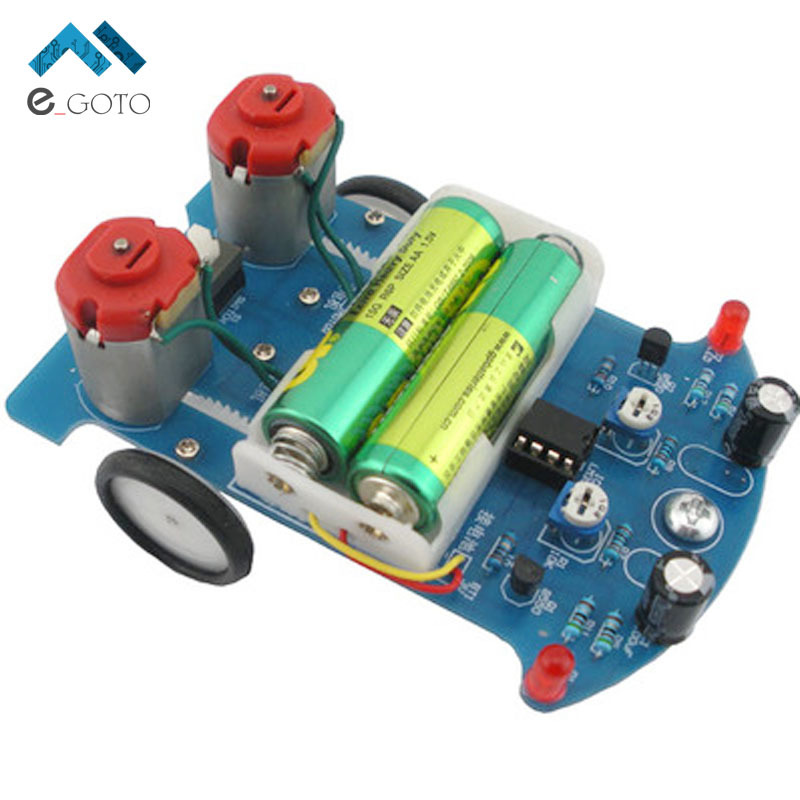 Free Shipping D2 5 Intelligent Tracking Line Car DIY Kit Suite TT Motor Electronic Assembly Smart