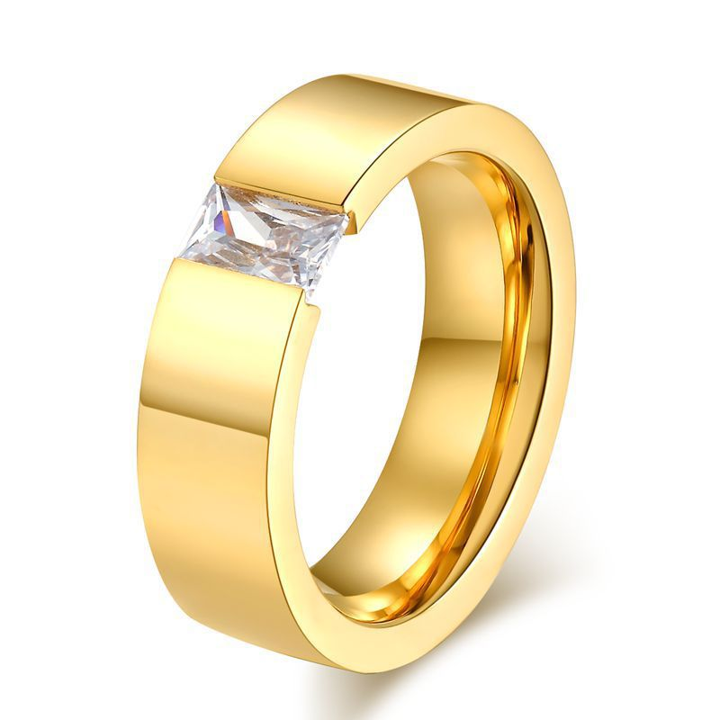 Gold-color ring Cubic Zircon rings for women men jewelry anillos wedding engagement rings bague femme aliancas de casamento