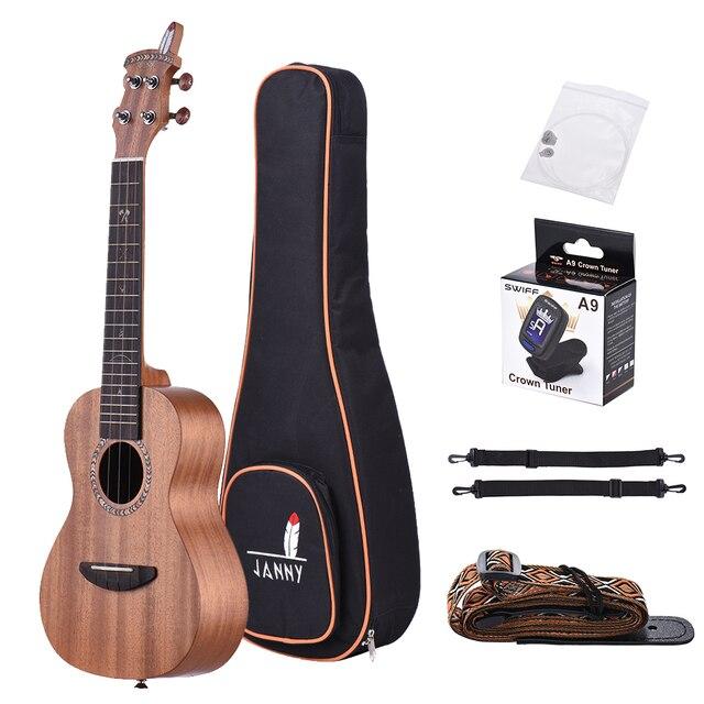 21 acoustic wooden soprano ukulele ukelele uke mahogany wood carbon