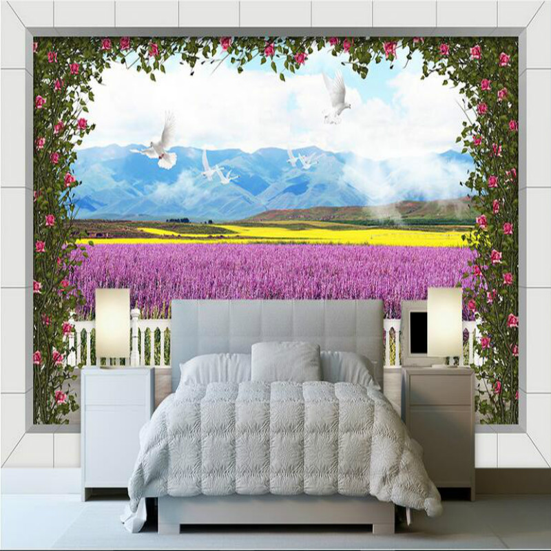 3D wallpaper for walls 3d Non Woven silk wallpaper murals Customization backgrounds for living room Palace rose background wall blue earth cosmic sky zenith living room ceiling murals 3d wallpaper the living room bedroom study paper 3d wallpaper