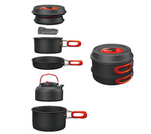 Alocs 3-4 Person Cooking Pot Camping Pan Kettle Outdoor Cookware Pots Sets CW-C06S