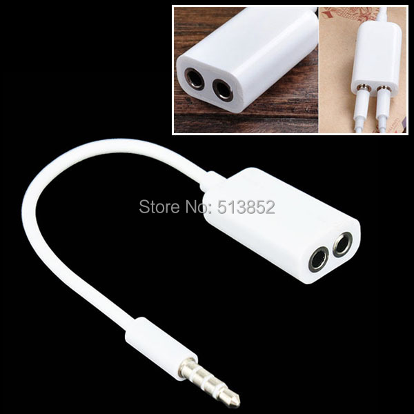Universal 3.5mm 1 Male To 2 Female Audio Headphone Earphone Splitter Adapter Cable