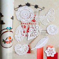 Water soluble cotton lace embroidery buiter