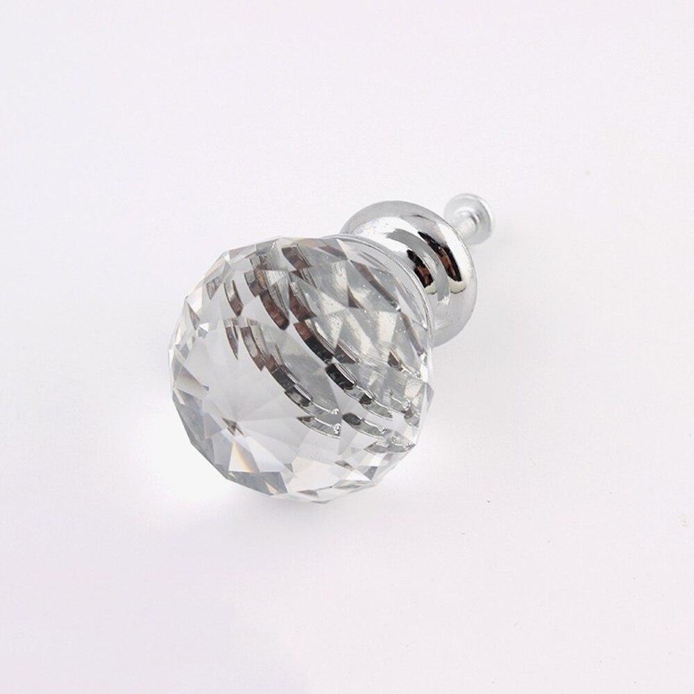MEGAIRON Diamond Glass Drawer Handles Clear Kitchen cupboard Handles ...