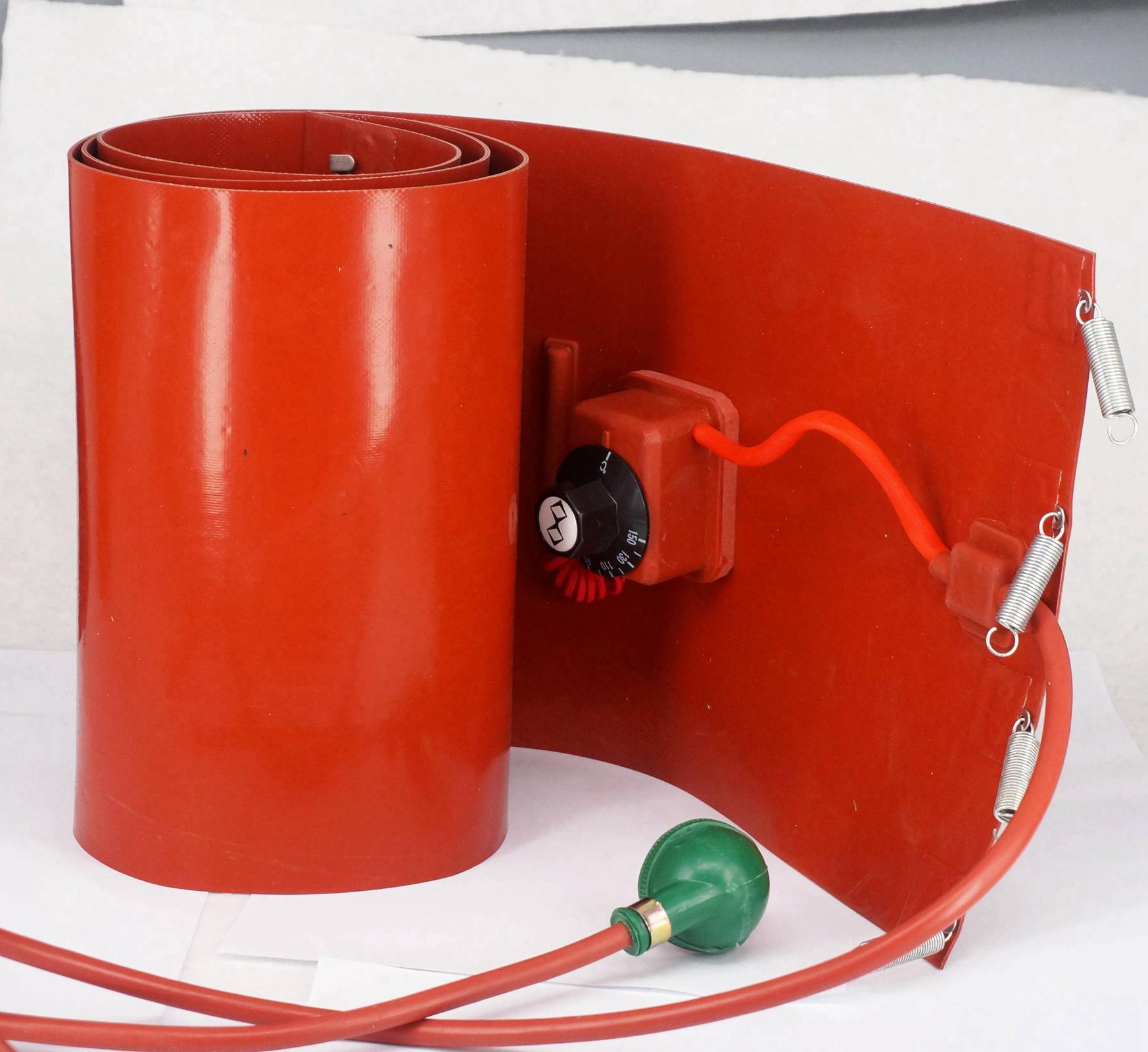 Image 2 - 200 L(55  Gallon) 250x1740x1.6mm 3000W  Flexible Silicon Band Drum Heater Blanket Oil Biodiesel  Barrel Electrical Wires-in Wires & Cables from Lights & Lighting