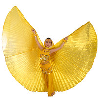 Polyester Kids Isis Wings Children Belly Dancing Wings 9 Colors No Sticks