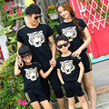 2016 Matching Mother Daughter Clothes Sets Couple Clothes Family Mom Girl/Father son 2pcs Outfits Summer short  T+Short