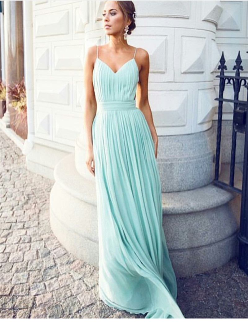 Elegant long bridesmaid dresses 2017 top quality pleat chiffon elegant long bridesmaid dresses 2017 top quality pleat chiffon plus size bridesmaid gowns spaghetti strap sexy party dress in bridesmaid dresses from ombrellifo Image collections
