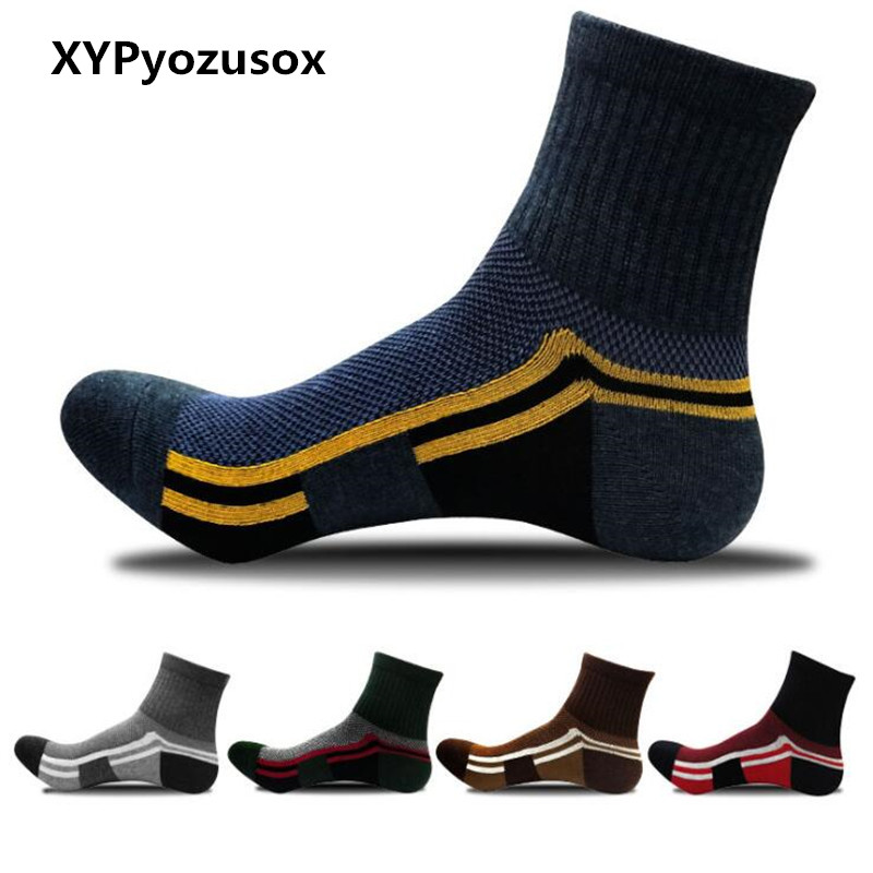 2018 HOT SALE Fashion Winter Cotton Casual Men Crew Socks High Quality Brand Sport Socks For Male Thick Compression Socks Meias