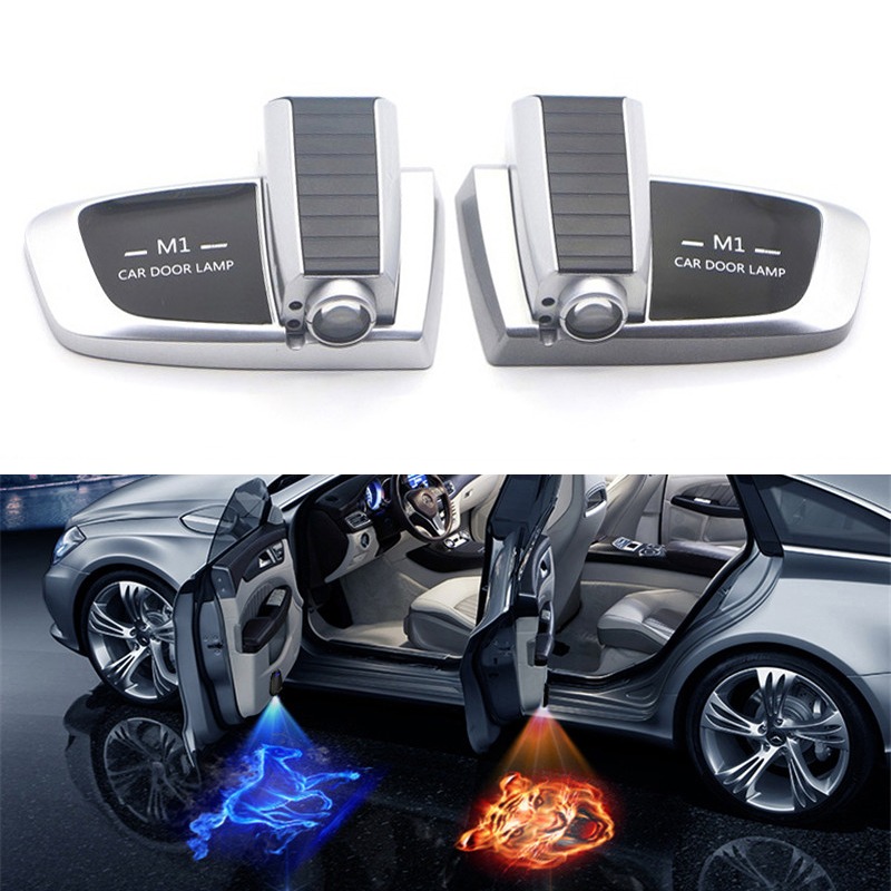 2pcs Wireless Car Door Welcome light LED Laser Projector Logo Ghost Shadow Light for Kia Ford