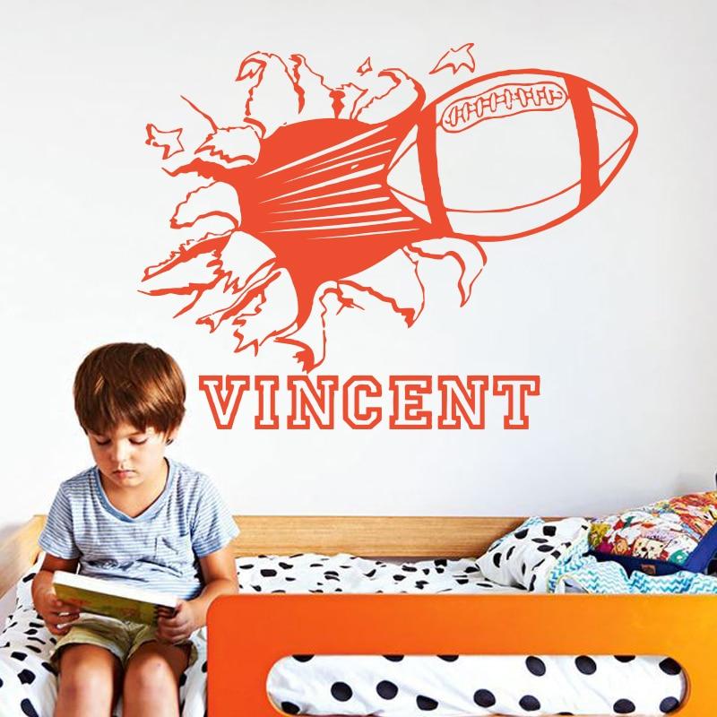 Konst modedesign heminredning namn citat vinyl Rugby fotboll vägg - Heminredning - Foto 3