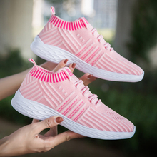 MLANXEUE Fashion Fly Weave Breathable Women Sneakers 2018 Autumn Winter Mesh Women Shoes Casual shoes Lace Up Lady Sneakers Shoe