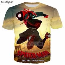 Cartoon Spider-Man: Into the Spider-Verse 3D Print Tshirt Women/Men Hiphop Streetwear T-shirt Boys Modis T shirt Clothes camisas