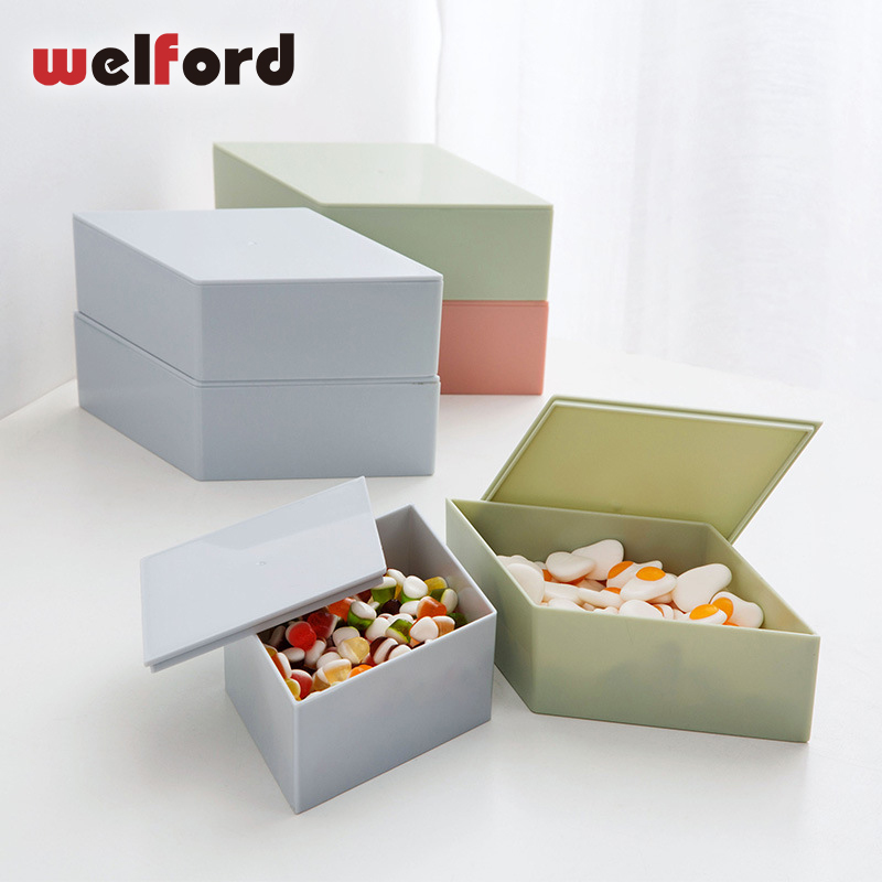 Amazing diamond dried fruit box creative plastic candy with lid dried fruit plate home candy tray storage box