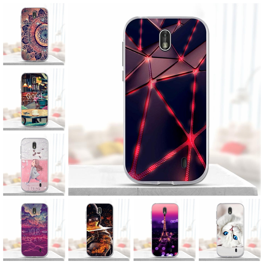 For <font><b>Nokia</b></font> 1 Case Cover Soft Silicone 3d Painting Cover for <font><b>Nokia</b></font> 1 Case Cover for Fundas <font><b>Nokia</b></font> 1 TA-<font><b>1047</b></font> TA-1060 TA-1056 Case image