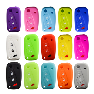Image 3 - OkeyTech New Styling Colorful Silicone Key Cover for Fiat 500  Panda Stilo Punto Doblo Grande BravoDucato Folding Car Key Shell