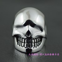 925 чистого серебра жидкости skull ring