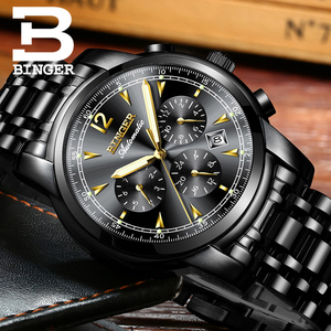 Image 5 - Switzerland Automatic Mechanical Watch Men Binger Luxury Brand Mens Watches Sapphire clock Waterproof relogio masculino B1178 17