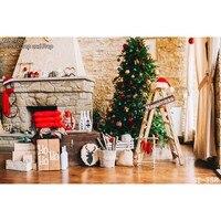 7X5ft Seamless Christmas Wallpaper Children Photography Backdrops Vinyl Backgrounds For Photo Studio Indoor Backdrops ST 758