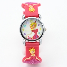 3D Cartoon princess design Children Watches Fashion sport Boys Rubber Silicon Casual Kids Clock High Quatily watch Relojes Relog